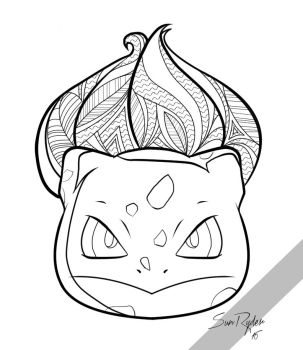 001 - Bulbasaur Coloring Page by kenobisunryder