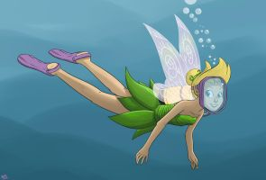 The Diving Tinkerbell by Raph13th