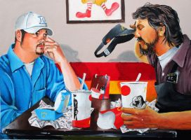 Me, Jesus, and a Fish Fillet by JackHoyle