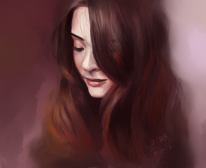 Brunette - Paint Sketch 2013-7-19