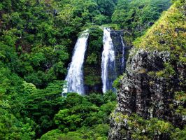 Waterfalls in Kauai Island by TFuruhashii