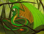Scheming Dragon in a Dying Forest by Mechanical-Dragon