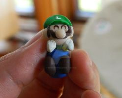 Tutorial: Luigi Earrings Polymer Clay by NerdEcrafter