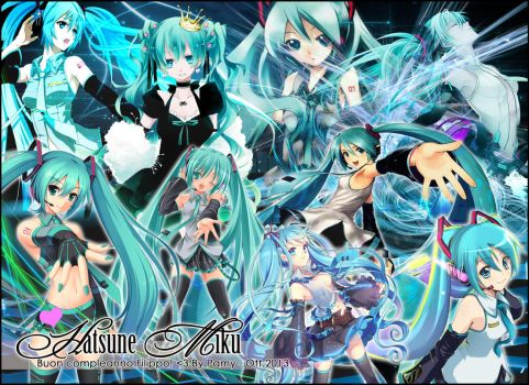 Hatsune Miku Miscellaneus Happy B-Day by Scarlet18