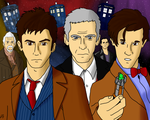 Doctor Who Modern Doctors by MegaArtist923