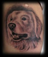 Dog tattoo by ErdoganCavdar