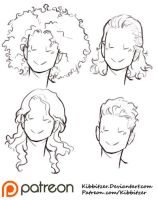 Curly Hair Reference Sheet 2 by Kibbitzer
