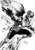 Inks - Gambit by Manny Clark by adr-ben