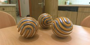 Art Wades Rolled Spheres on Horo's kitchen table by davidbrinnen