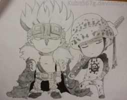 Chibi Law and Kid by kuba567g