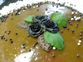 Caramels and chocolate flowers by chrysanthemus