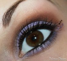 Brown purple make up by Talasia85