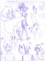 Rave Sketch dump + haruhi lol by DarkHalo4321