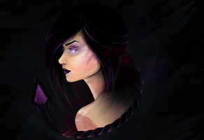 Portrait Practice (Darkflame Shyvana) by Jaacqs