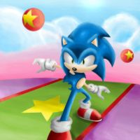 Paint Sonic by super-sawnyc128