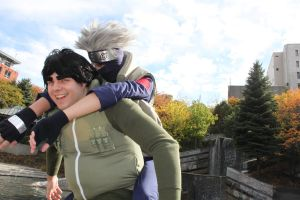 Gai and Kakashi by Suki-Cosplay