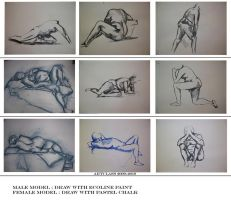 nude models drawings by azurylipfe