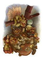 Tavern Brawl by butterfrog