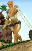 Muscle woman logger by MuscleWomen-Planet
