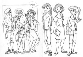 Disney High Sketch Dump 1 by Tella-in-SA