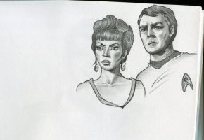 Uhura' n' Scotty by Chlorur