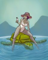 Two Travel by Turtle by lightfootcomics