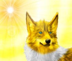 Jolteon is walking on sunshine by krystall-Wolf