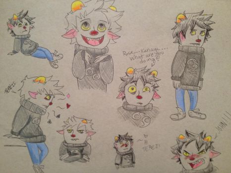 Cute Karkat expression reference by jitterfly