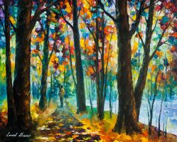 Living Trees by Leonid Afremov by Leonidafremov