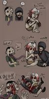 .:Unhelpful friends:. by Zombimatic