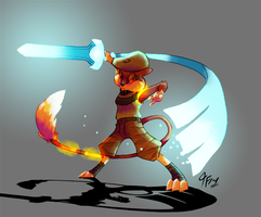 PKMNA - Wielder of the Sacred Sword by TamarinFrog