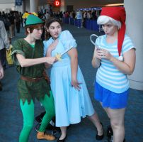 Peter, Wendy and Smee by CheshFire