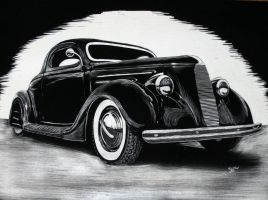 36 Ford scratch board by HotRodJen