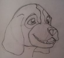 Semi-Anthro Dog by Wolfchill13