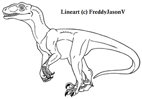 FREE- JP Raptor lineart by CrazyCrocuta