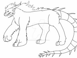 Me as a Nightmare Beast sketch by ShardianofWhiteFire