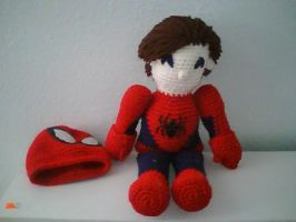 Spideyplushie, without mask by MasterPlanner