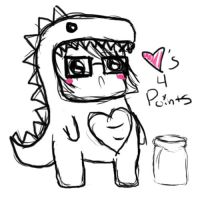 Pointsasaur by Bake-a-saur