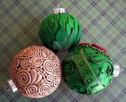 Christmas Ornaments 2010 by MandarinMoon
