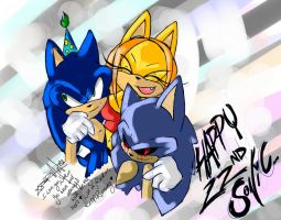 Happy 22nd Sonic by SonadowRoxmyWorld