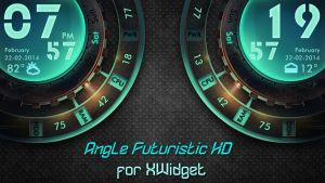Angle Futuristic Widget HD (L/R) for xwidget by jimking