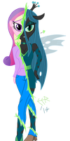 Queen Chrysalis, Equestria Girls Style by E-E-R