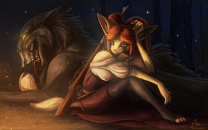 [Refrain] A girl and her dog by Jetera