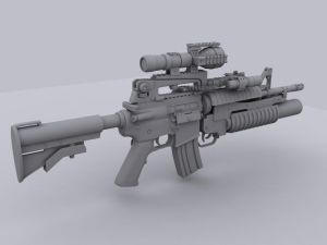 M4a1 Assault Rifle by lhnova - Bitmek Bilmeyen AvatarLar..