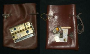 Steampunk Large Pouches 1 by PracticallyGeeky