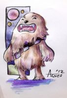 Chewbacca in Sketchbook by AgnesGarbowska