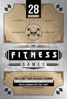 Vintage Fitness Flyer by iorkdesign