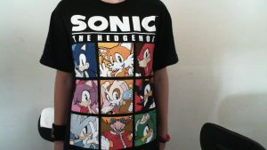 New Sonic Shirt Silver and Jet by SuperSonicGirl79135