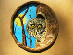 Papier-mache Owl Wall Hanging by MagicCarillon