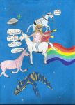 Cailey and Charlie the Unicorn by MAR-DOM